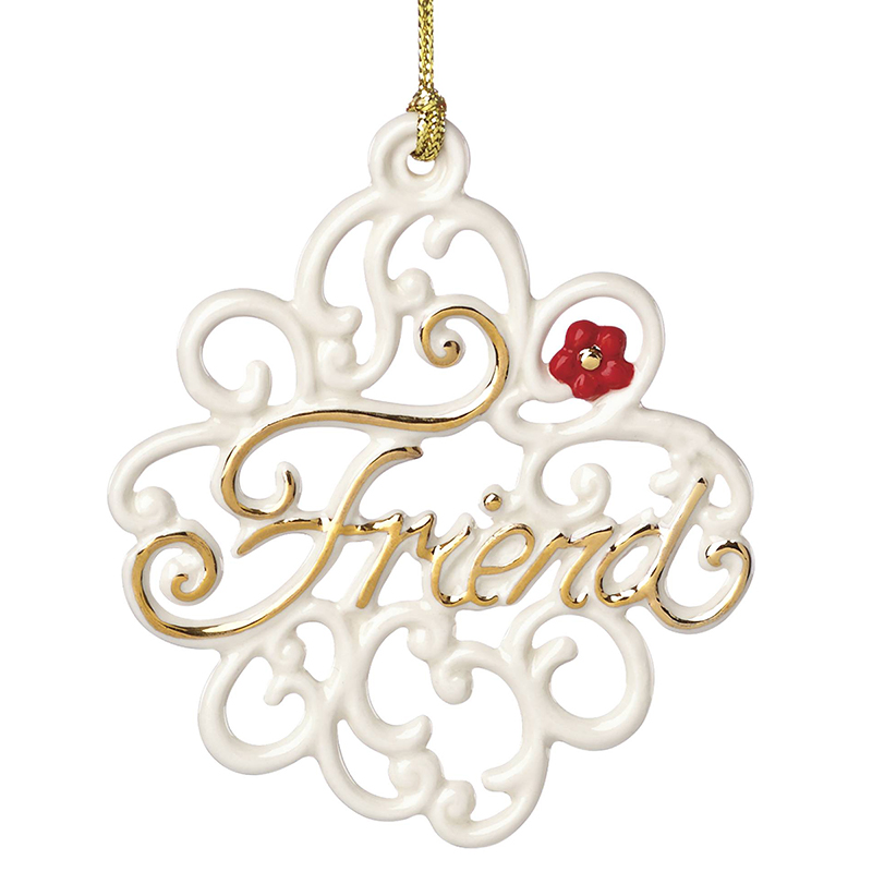 Friend Pierced Flower   Lenox Christmas Ornament   Disney ...