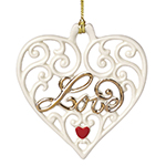 Lenox Love, Pierced Heart Ornament