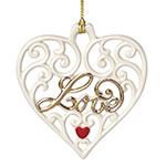 Lenox Love, Pierced Heart Ornament