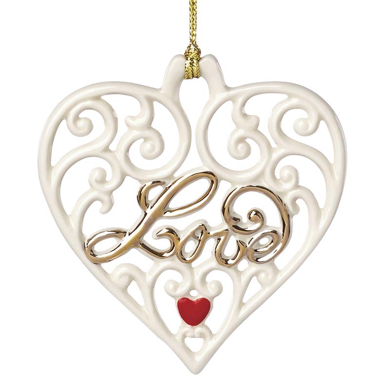 love pierced heart lenox christmas ornament disney. Black Bedroom Furniture Sets. Home Design Ideas
