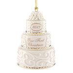 Our First Christmas Ornament 2017, Wedding Cake - Lenox Ornaments