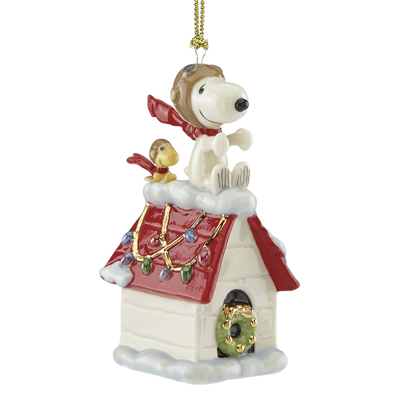 Snoopy And Woodstock Christmas Ornaments.Snoopy The Flying Aceporcelain Christmas Ornament By Lenox