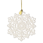 2017 Lenox Snow Fantasies Snowflake Porcelain Christmas Ornament