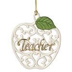 Lenox Teacher, Pierced Apple Ornament