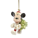2017 Lenox Trimming the Tree with Mickey Mouse Christmas Ornament