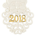 2018 A Year to Remember Santa Christmas Ornament | Lenox Christmas Tree Decoration | Santa Ornament