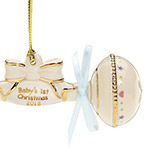 2018 Baby's First Christmas Ornament, Rattle | Lenox Christmas Tree Decoration | First Christmas Ornament