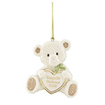 2018 Lenox Baby's First Christmas Teddy Bear Porcelain Ornament