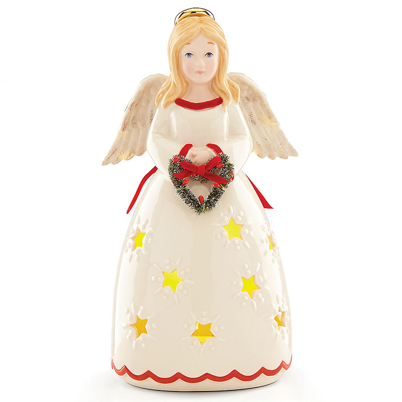 Merry and Light Lit Angel | Lenox Christmas Tree Decoration | Our First Christmas