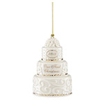 Our First Christmas Ornament 2018, Wedding Cake - Lenox Ornaments