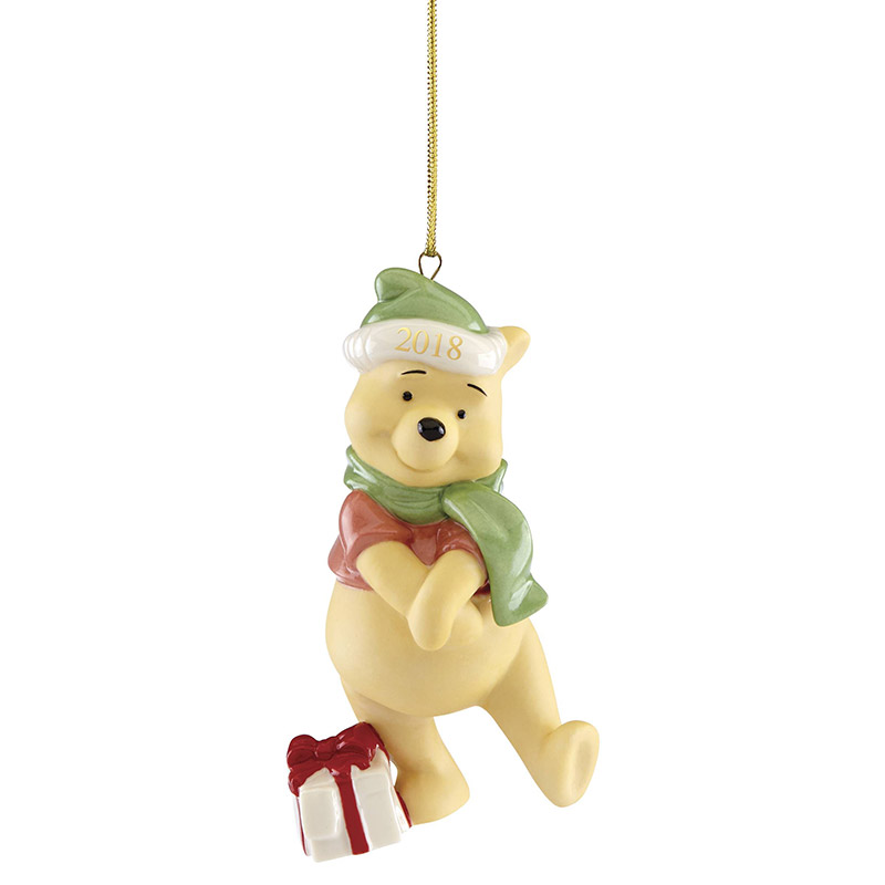 Present From Winnie the Pooh Ornament 2018 | Lenox Christmas Ornaments