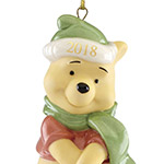 2018 Present From Winnie the Pooh | Lenox Christmas Tree Decoration | Winnie the Pooh First Christmas Ornament