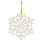 2018 Lenox Snow Fantasies Snowflake Porcelain Christmas Ornament