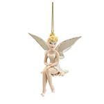 Snowflake Tinkerbell Christmas Tree Ornament