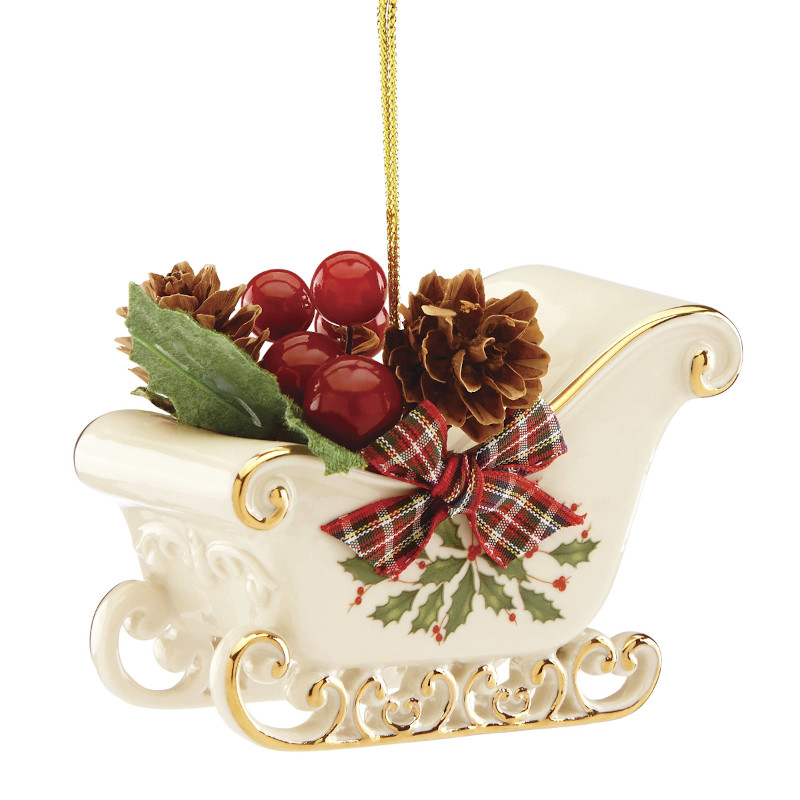 Lenox Holiday Sleigh Ornament 2019 | Lenox Christmas Ornaments
