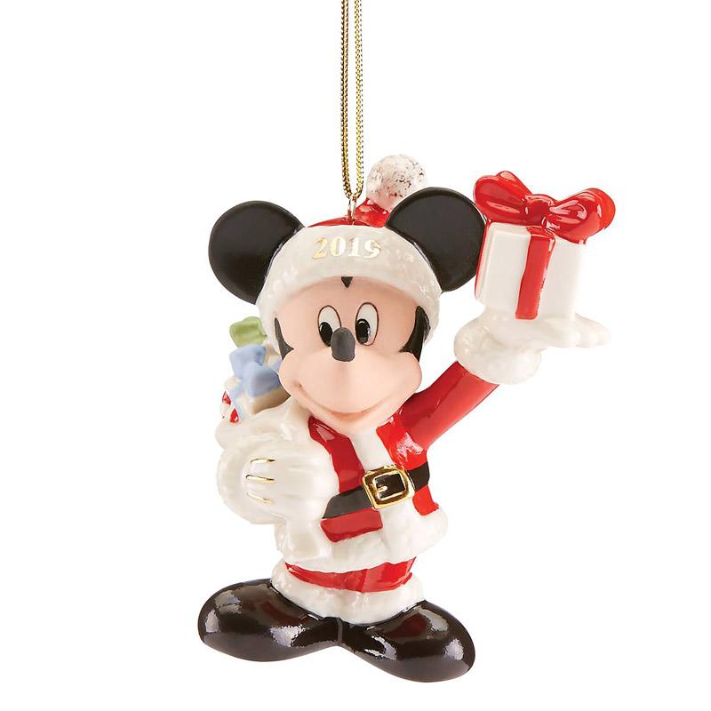 Merry Mickey Mouse Ornament 2019 | Lenox Christmas Ornaments