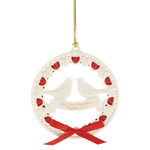 2019 Lenox Our First Christmas Together Doves Porcelain Wedding Ornament