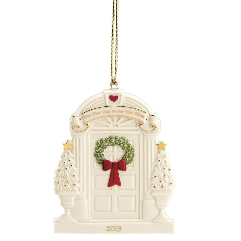 First Christmas In Our New Home 2019.2019 Lenox Our 1st Year In Our New Homeporcelain Christmas Ornament By Lenox