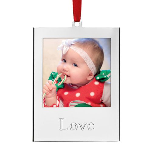 Lenox Silver Love Picture Frame Ornament