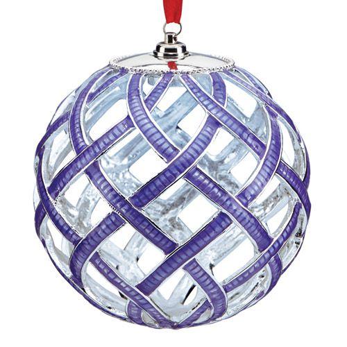 Lenox Lit Purple Woven Christmas Ornament