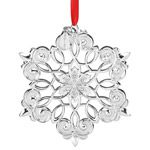 2015 Lenox Snow Majesty Snowflake Silver Christmas Ornament