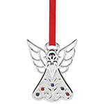 2016 Lenox Jeweled Angel Silverplate Ornament