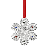 2016 Lenox Jeweled Snowflake Silverplate Ornament