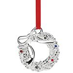 2016 Lenox Jeweled Wreath Silverplate Ornament