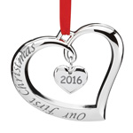 2016 Lenox Our First Christmas Forevermore Silver Ornament