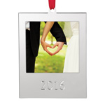 Lenox Silver 2016 Picture Frame Christmas Ornament