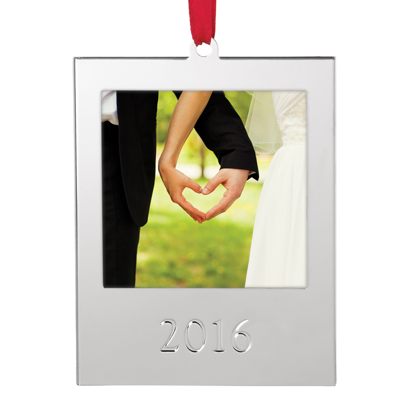 2016 Picture Frame Ornament | Lenox Christmas Ornaments | Photo ...