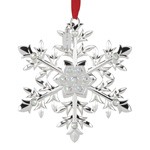 2016 Lenox Snow Majesty Snowflake Silver Christmas Ornament