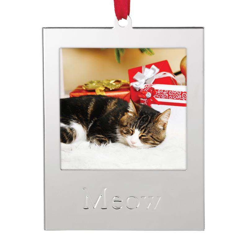 Cat Photo Frame Ornament   Lenox Christmas Ornament   Picture Frame ...