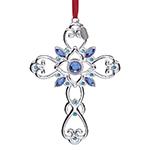 Lenox Gemmed Cross Silver Christmas Ornament