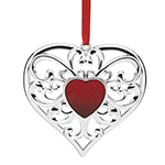 Lenox Ornament - Gemmed Christmas heart