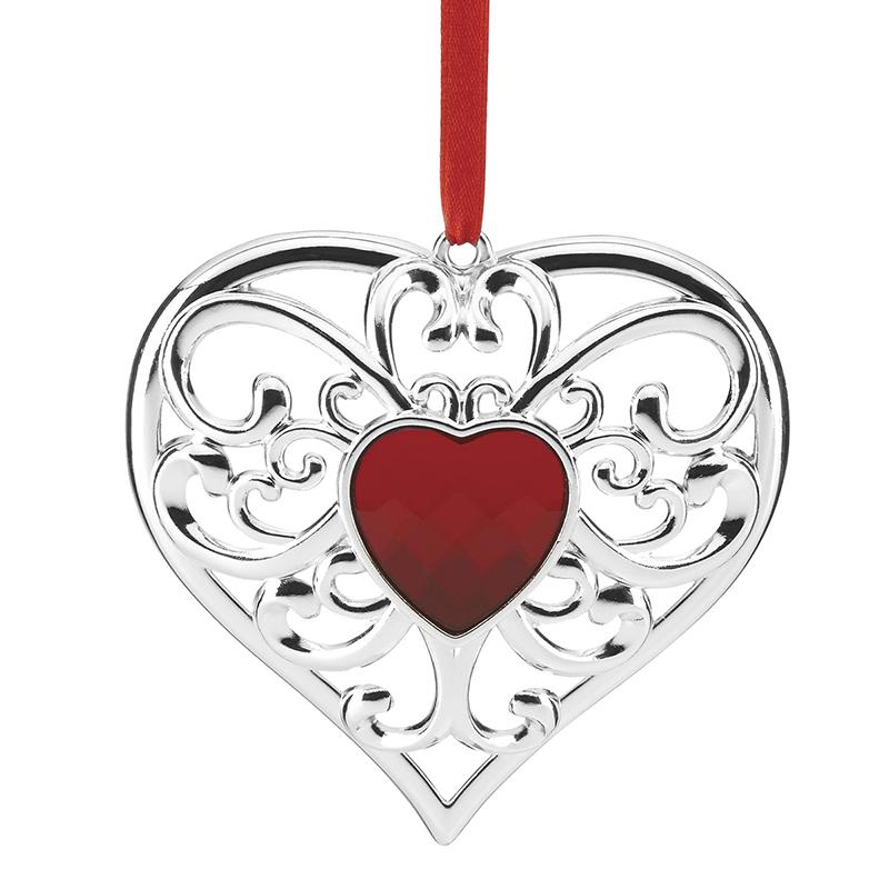 gemmed heart lenox christmas ornament