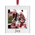 Lenox Silver Joy Picture Frame Christmas Ornament