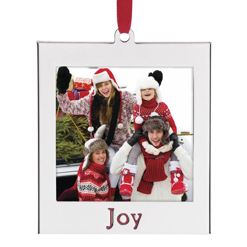 Joy Photo Ornament | Lenox Christmas Ornament | Picture Frame Ornament