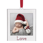 Lenox Silver Love Picture Frame Christmas Ornament