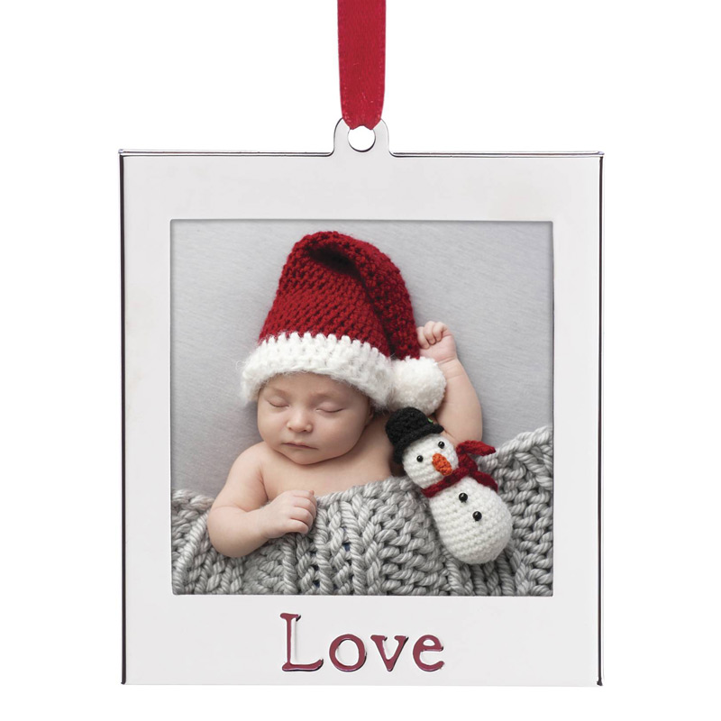 Love Picture Frame | Lenox Christmas Tree Decoration | Silver Frame