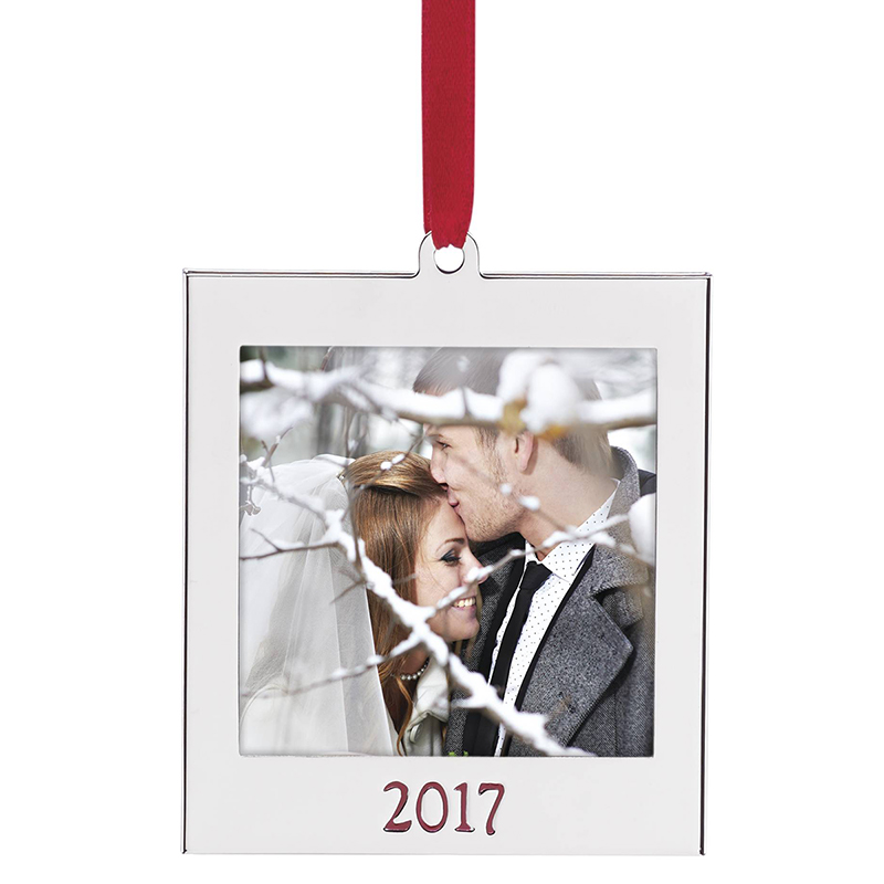 2017 Picture Frame Ornament | Lenox Christmas Ornaments | Photo ...