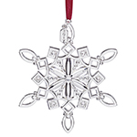 2017 Lenox Snow Majesty Snowflake Silver Christmas Ornament