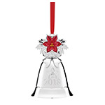 2018 Lenox Annual Christmas Bell Musical Ornament, Silver plate