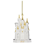 Lenox Disney Ornament - Disney Castle Silver Plate Christmas Ornament