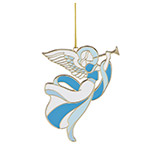 2018 Lenox Heavenly Angel, Enamel Ornament, Silver plate