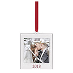 Lenox Silver 2018 Picture Frame Ornament