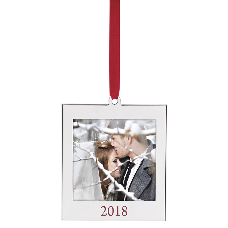 2018 Picture Frame Ornament | Lenox Christmas Ornaments | Photo ornament