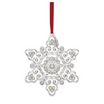 2018 Lenox Snow Majesty Snowflake Silver Plate Christmas Ornament