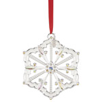 2019 Lenox Snow Majesty Snowflake Silver Plate Christmas Ornament