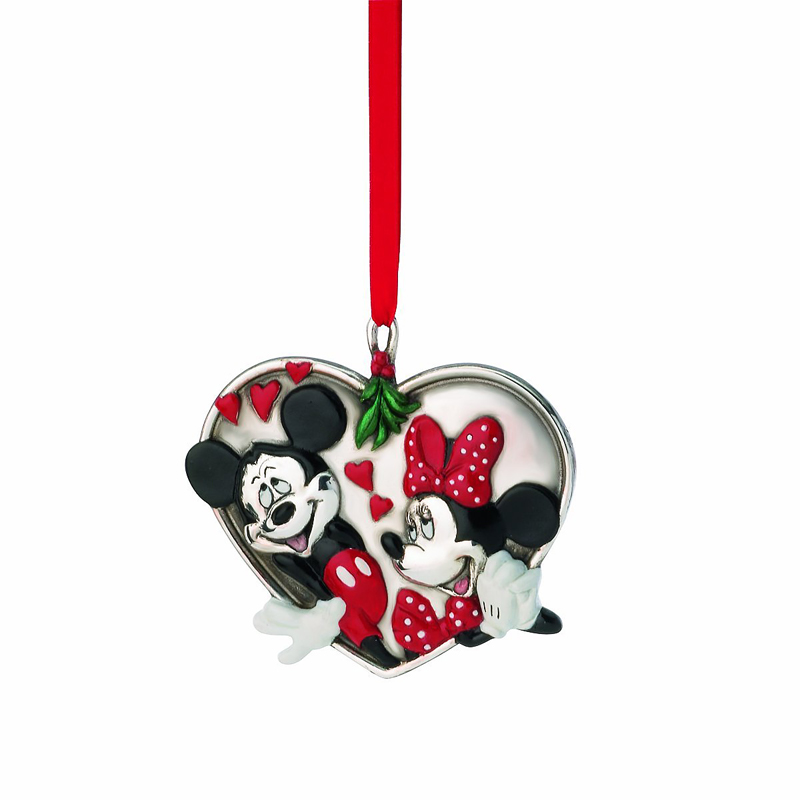 mickey minnie under the mistletoe lenox christmas ornament